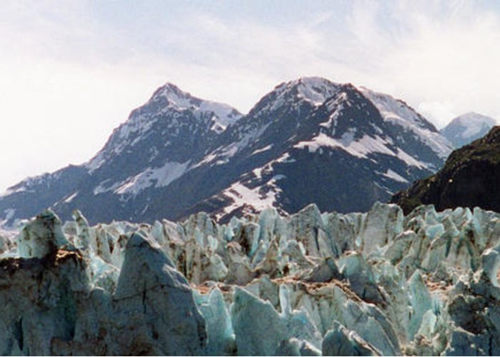 Margerie Glacier Photographs Greeting Card featuring the photograph Margerie Glacier View by C Sitton
