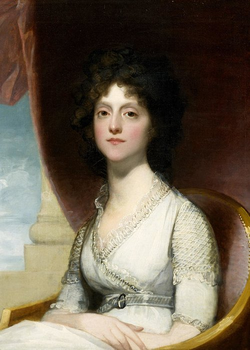 Female Greeting Card featuring the painting Marianne Ashley Walker by Gilbert Stuart