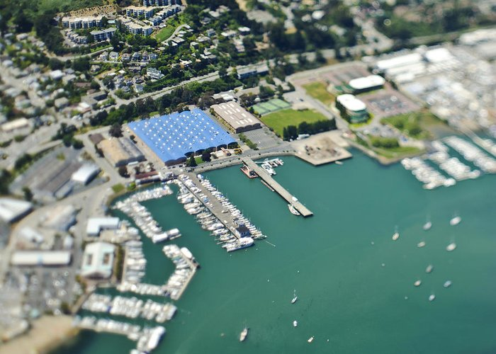 Aerial Greeting Card featuring the photograph Marina And Coastal Community by Eddy Joaquim