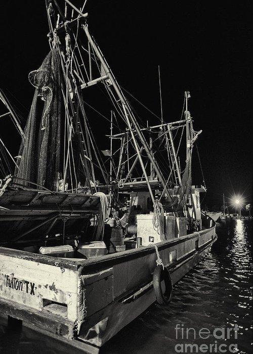 Gulf Of Mexico Greeting Card featuring the photograph Marina Shipyard Texas Gulf Coast by Andre Babiak