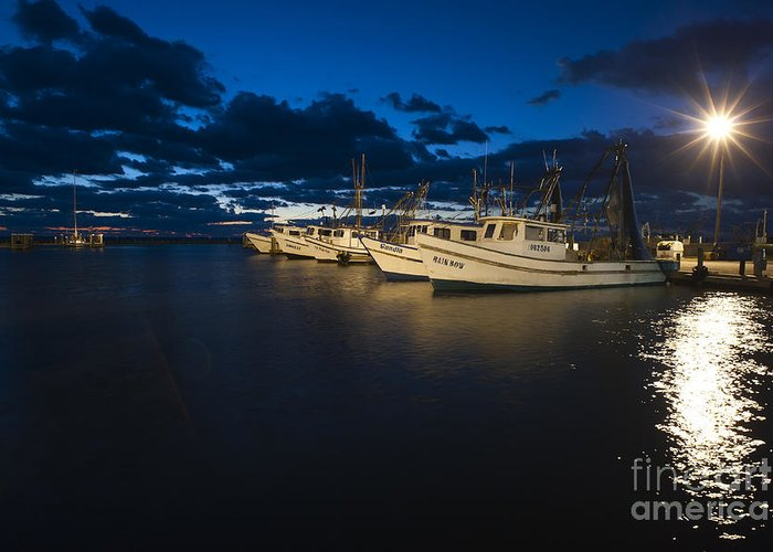 Marina Greeting Card featuring the photograph Marina With Fishing Boats by Andre Babiak