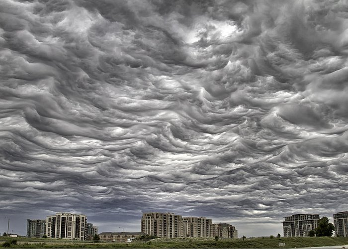 Clouds Greeting Card featuring the photograph Markham Clouds by Steven Wilson