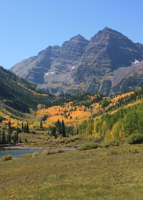 Bells Greeting Card featuring the photograph Maroon Bells by Mark Sacco