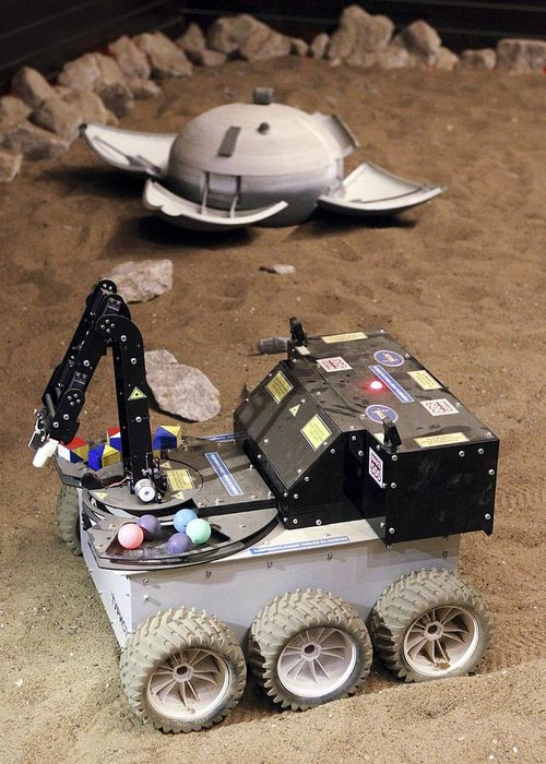 21st Century Greeting Card featuring the photograph Mars Rover Testing by Ria Novosti