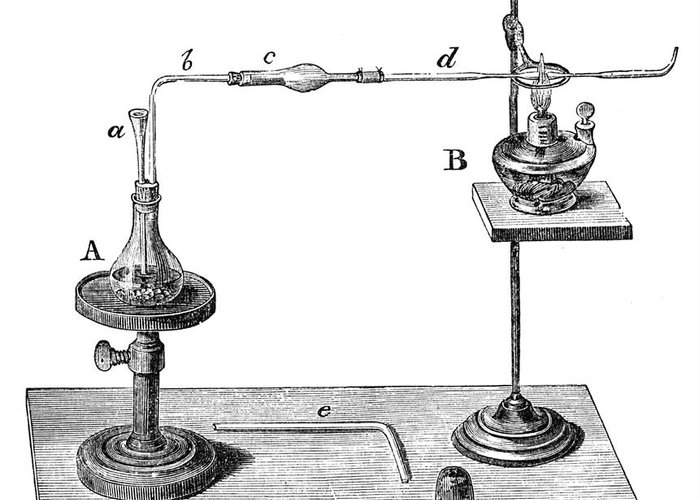 Science Greeting Card featuring the photograph Marsh Test Apparatus, 1867 by Science Source