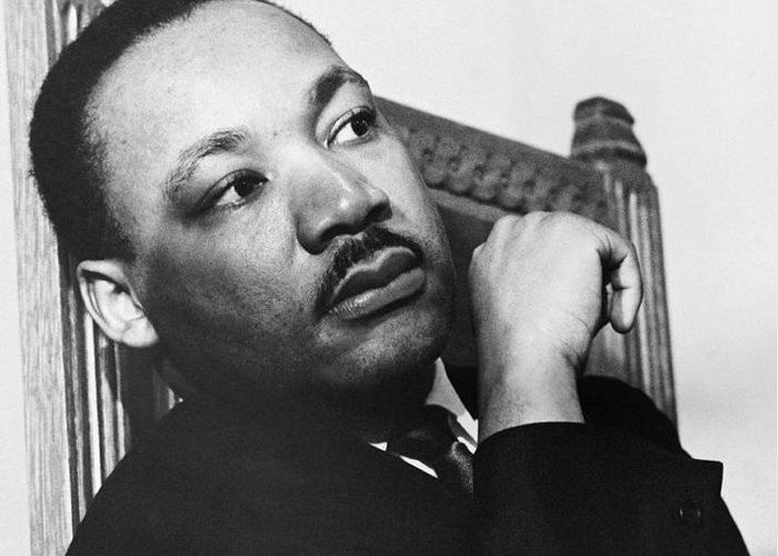 History Greeting Card featuring the photograph Martin Luther King, Jr by Photo Researchers