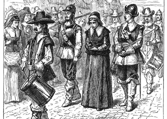 1660 Greeting Card featuring the photograph Mary Dyer, D.1660 by Granger