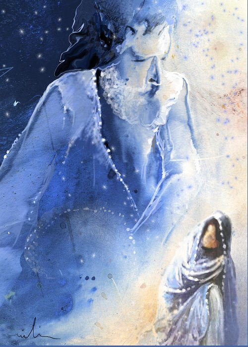 Fantasy Greeting Card featuring the painting Mary Magdalene by Miki De Goodaboom