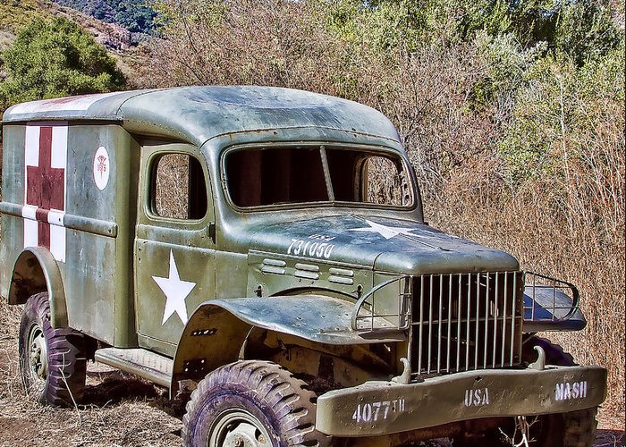 Truck Greeting Card featuring the digital art M.a.s.h Property 1 by Jason Abando