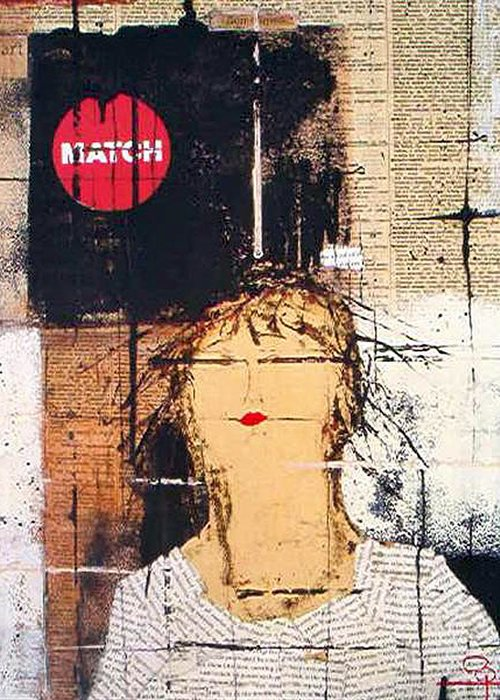 Mixed Media Greeting Card featuring the mixed media Match Point by Jo Roffe