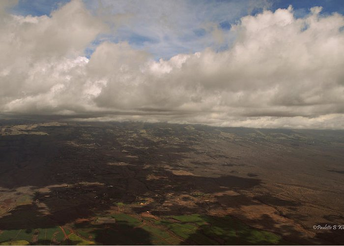 Nature Greeting Card featuring the photograph Maui Beneath The Clouds by Paulette B Wright