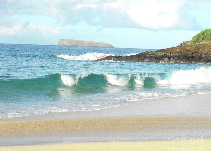 Beach Greeting Card featuring the photograph Maui Hawaii Beach by Rebecca Margraf