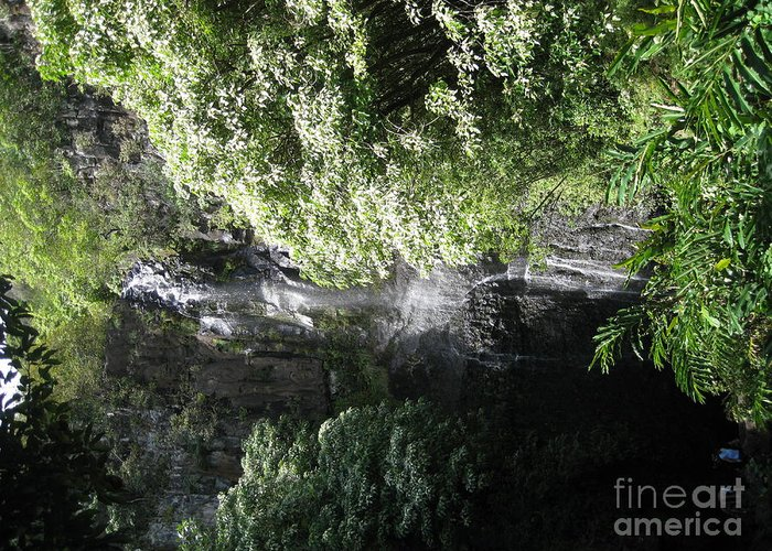 Waterfall Greeting Card featuring the photograph Maui Waterfall by Terry Hunt
