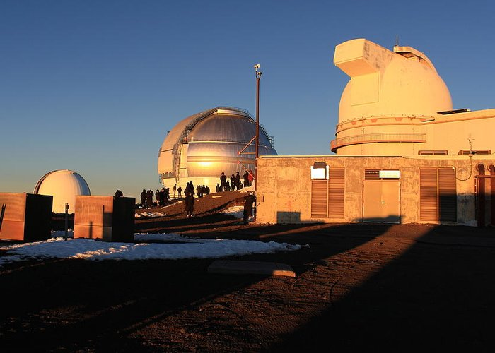 Gemini Greeting Card featuring the photograph Mauna Kea Observatories by Scott Rackers