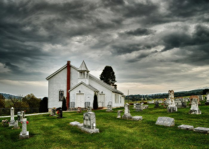 Chapel Greeting Card featuring the photograph Mcelwee Chapel Series II by Kathy Jennings