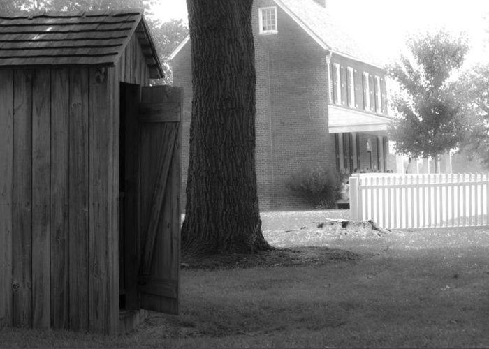 Appomattox Greeting Card featuring the photograph Meeks Outhouse by Teresa Mucha