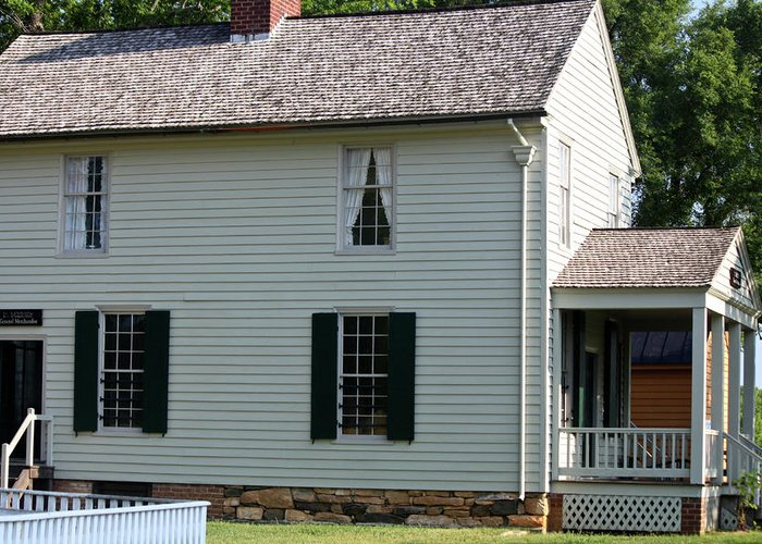 Appomattox Greeting Card featuring the photograph Meeks Store Appomattox Court House Virginia by Teresa Mucha