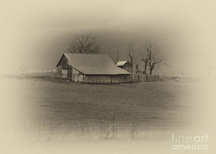 Sepia Greeting Card featuring the photograph Memories by Cheryl Butler