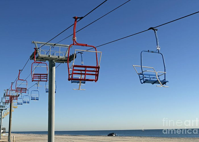 Seaside Heights Greeting Card featuring the photograph Memories Of The Jersey Shore by John Van Decker