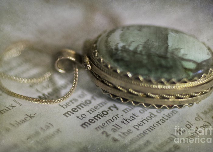 Jewelry Greeting Card featuring the photograph Memory by Elena Nosyreva