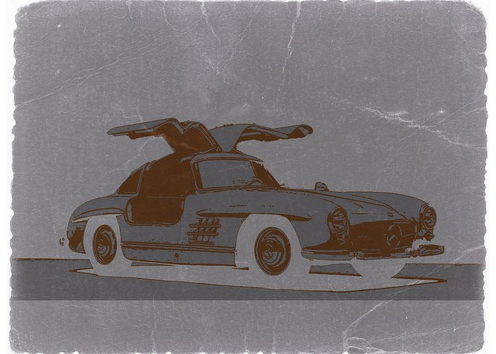 Greeting Card featuring the photograph Mercedes Benz 300 by Naxart Studio