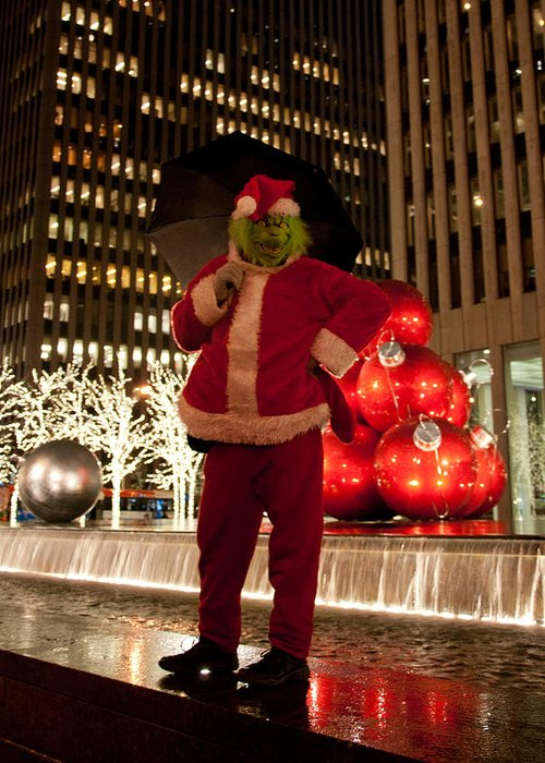 New York Greeting Card featuring the photograph Merry Grinchmas by Heidi Reyher