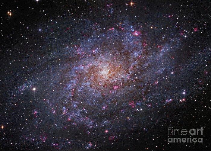 Interstellar Clouds Greeting Card featuring the photograph Messier 33, Spiral Galaxy In Triangulum by Robert Gendler