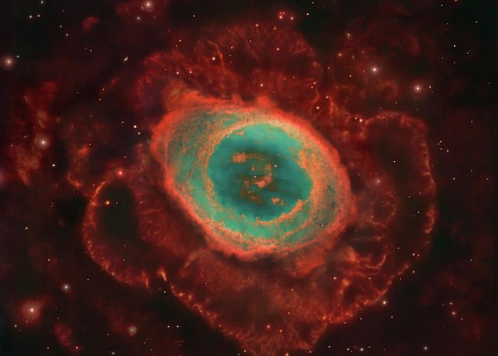 Awe Greeting Card featuring the photograph Messier 57, The Ring Nebula by Robert Gendler