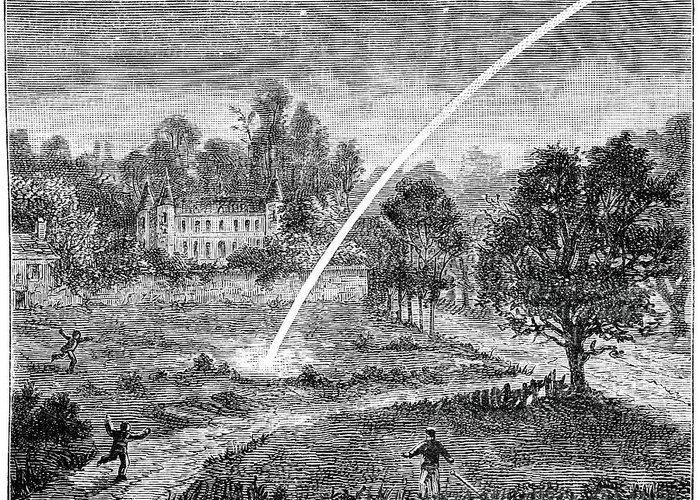 Human Greeting Card featuring the photograph Meteoric Impact, 17th Century by
