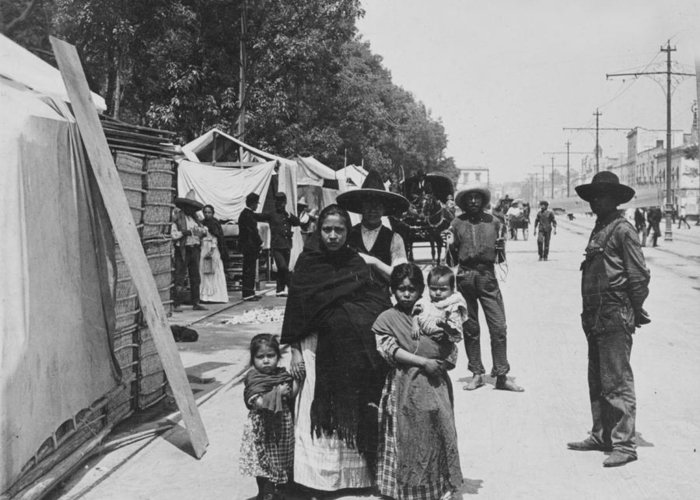 mexico City Greeting Card featuring the photograph Mexico City - Alameda During Holy Week - C 1906 by International Images