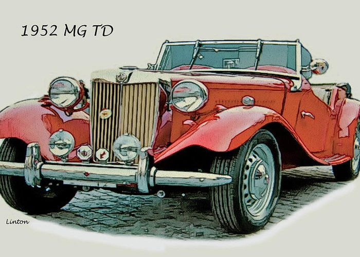 Mg Td Greeting Card featuring the digital art Mg Td by Larry Linton