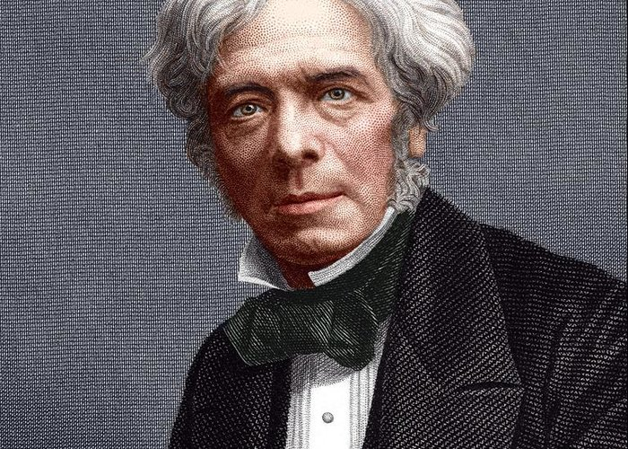 Faraday Greeting Card featuring the photograph Michael Faraday, English Chemist by Sheila Terry