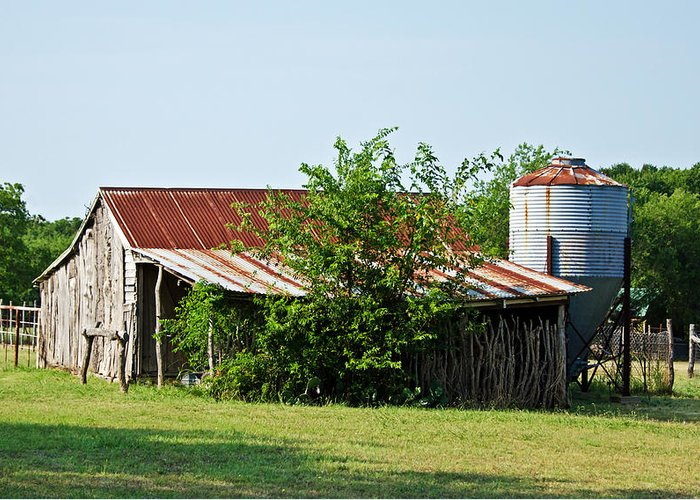 Barns Greeting Card featuring the photograph Middle Barn by Lisa Moore