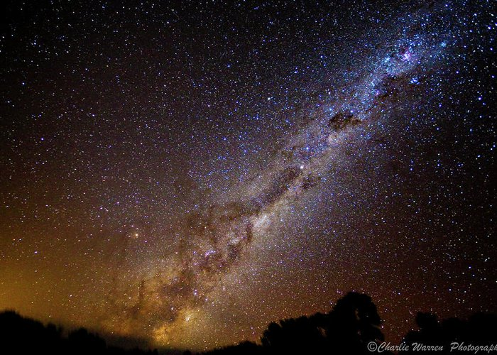 Astro Images Greeting Card featuring the photograph Milky Way Down Under by Charles Warren