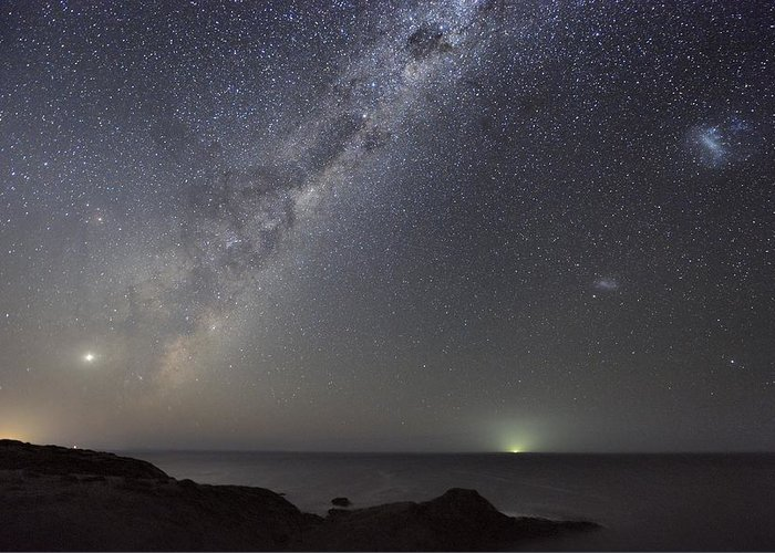 Milky Way Greeting Card featuring the photograph Milky Way Over Flinders, Australia by Alex Cherney, Terrastro.com