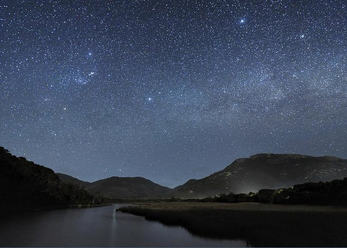 Milky Way Greeting Card featuring the photograph Milky Way Over Wilsons Promontory by Alex Cherney, Terrastro.com