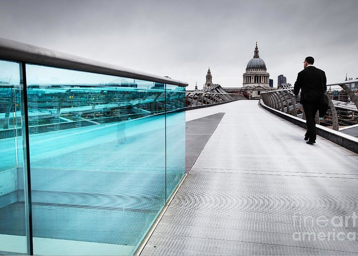 London Greeting Card featuring the photograph Millenium Commuter by Martin Williams
