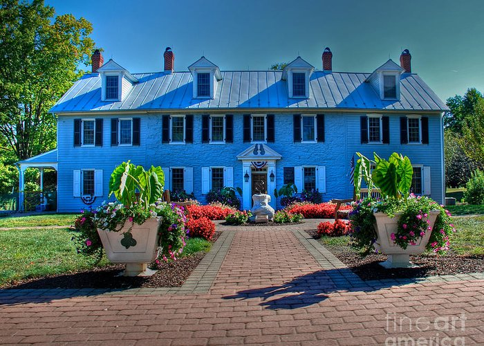 Tonemapped Greeting Card featuring the photograph Milton Hershey Homestead by Mark Dodd