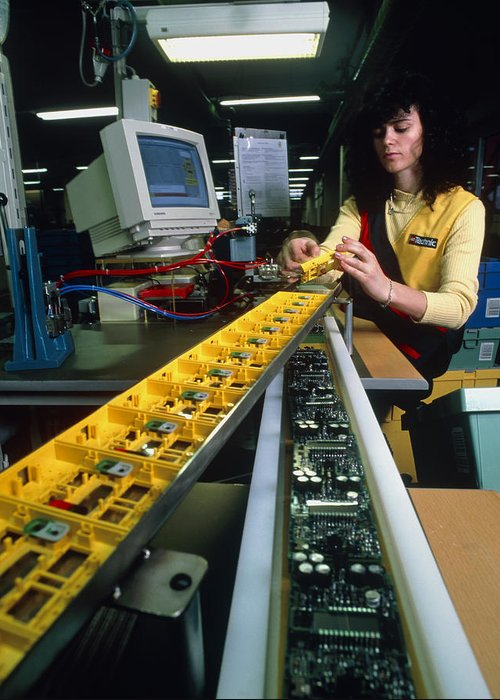 Lego Manufacture Greeting Card featuring the photograph Mindstorm Programmable Lego Brick Manufacture by Volker Steger