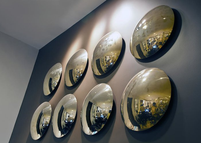 Interesting Greeting Card featuring the photograph Mirrors Mirrors More Mirrors by Kantilal Patel