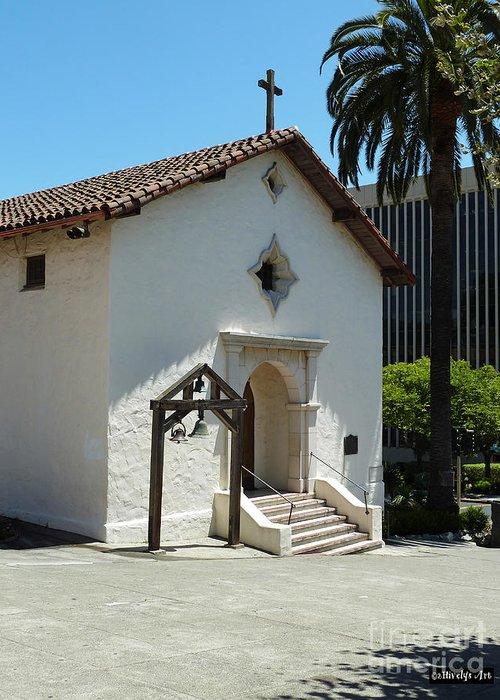 Mission San Rafael Arcangel Chapel Greeting Card featuring the photograph Mission San Rafael Arcangel Chapel by Methune Hively