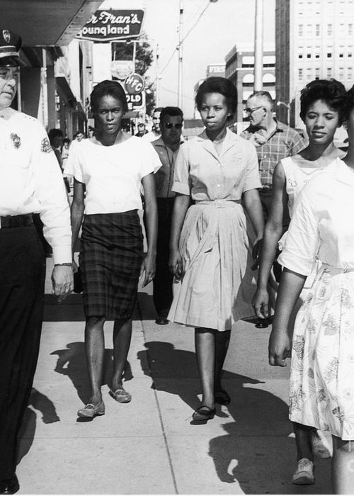 1963 Greeting Card featuring the photograph Mississippi: Sit-in, 1963 by Granger