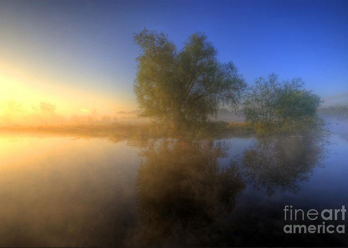 Hdr Greeting Card featuring the photograph Misty Dawn 1.0 by Yhun Suarez