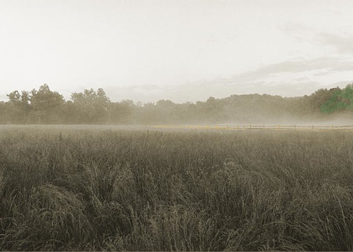 Battlefield Greeting Card featuring the photograph Misty Grounds by Jan W Faul