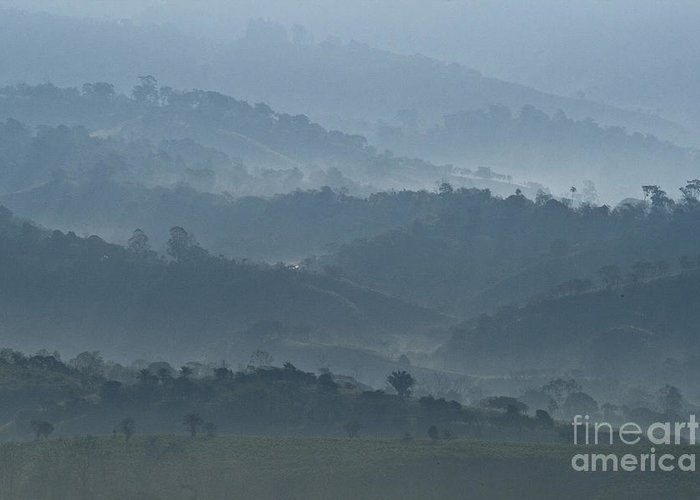 Heiko Greeting Card featuring the photograph Misty Hills Of Chiriqui by Heiko Koehrer-Wagner