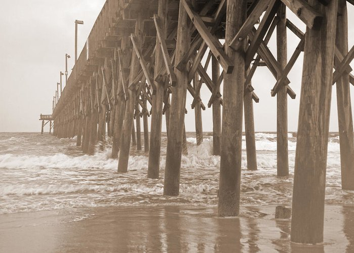 Surf Greeting Card featuring the photograph Misty Morning by Betsy Knapp