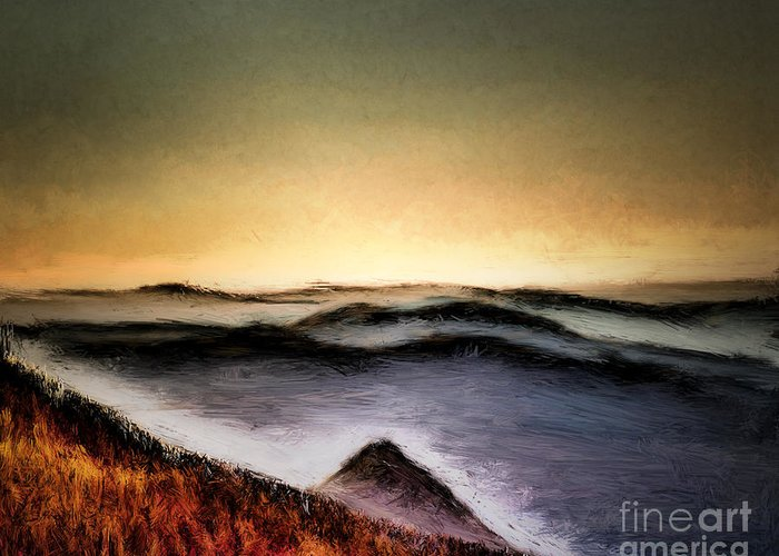 Arizona Greeting Card featuring the photograph Misty Sunrise by Arne Hansen