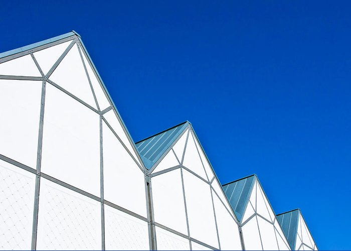 Architecture Greeting Card featuring the photograph Modern Architecture by Tom Gowanlock