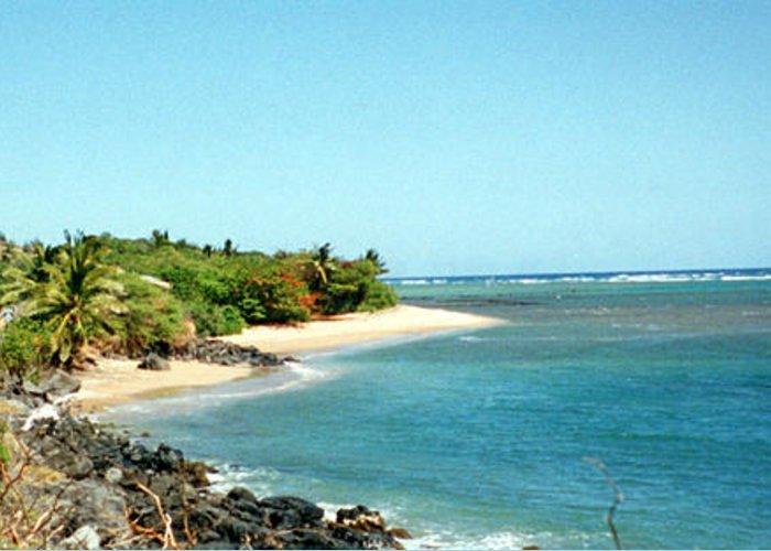 Molokai Hawaii Photographs Greeting Card featuring the photograph Molokai Shore by C Sitton