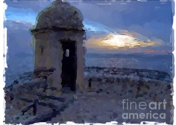 Landscapes Greeting Card featuring the painting Monaco - Monte Carlo by Franck Guarinos